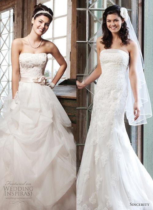Sincerity Bridal 2013 Wedding Dresses featured at weddinginspirasi....