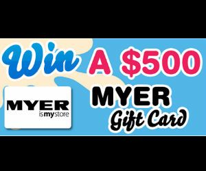 Get summertime-ready with a new wardrobe! Enter to win a $500 Myer Gift Card from Wendys Smoothies! **Competition closes Nov 10th** #competition #contest #sweepstakes #giveaway #shopping #clothing #summer #fashion