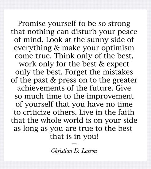 promise yourself #quote