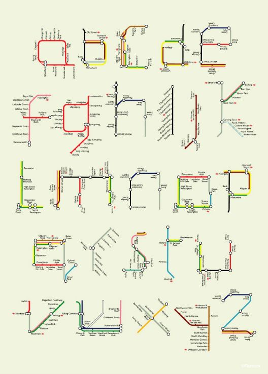 A-Z Tube Map Poster by Tim Fishlock  LOVE.