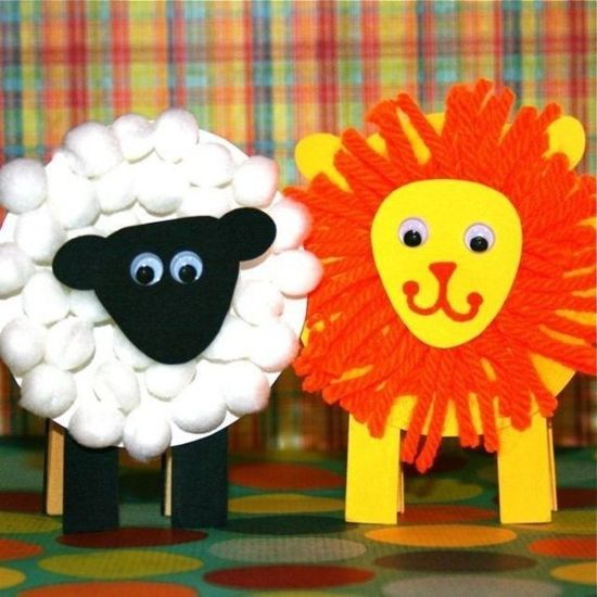 Lion & Lamb Note Holders--cute spring craft