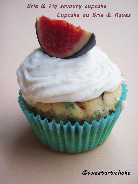 Brie & Figs savory cupcake
