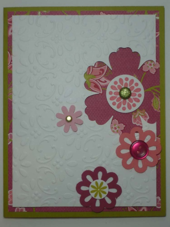 FLORAL FANTASY handmade Stampin Up card. $2.50, via Etsy.