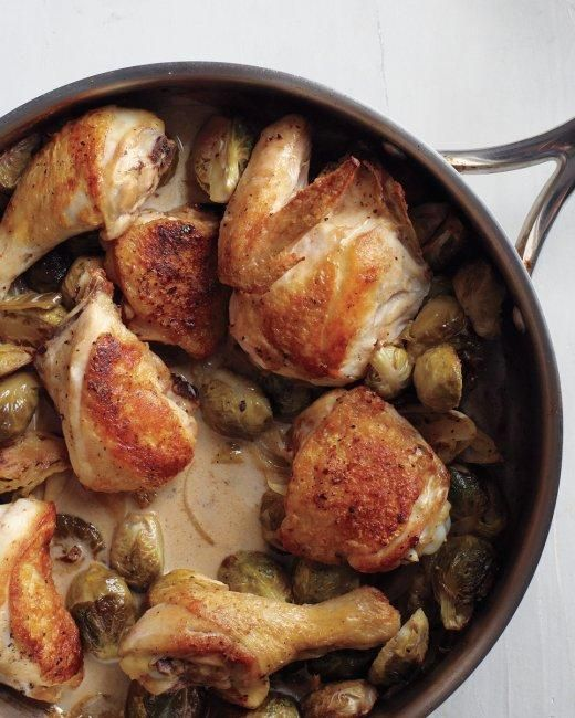 Braised Chicken and Brussels Sprouts Recipe