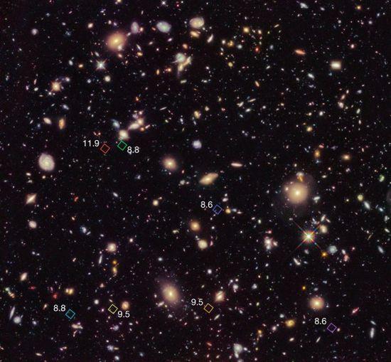 Hubble Census Unveils Galaxies Shining Near Cosmic Dawn