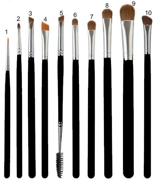 Make-up Brushes for Eyebrows and Eyelashes