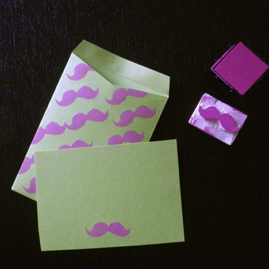 How to make your own rubber stamps via @Guidecentral - Visit www.guidecentr.al for more #DIY #tutorials