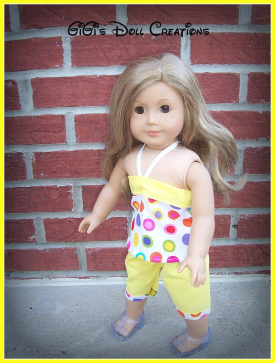 Capri outfit for 18 inch American Girl doll by GiGisDollCreations, $14.00