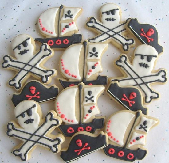 awesome pirate party cookies
