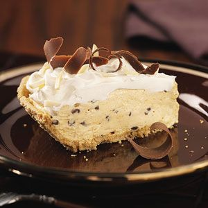 pumpkin chip cream pie  no one can have enough pumpkin pie recipes.