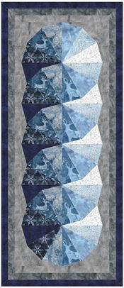 Designed in EQ8! Icicle Challenge Quilt by Jolene Ficklin