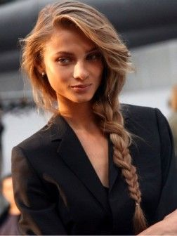 side braid...i want my hair this long so i can do this