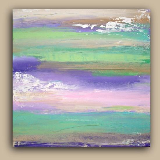 "DREAMY Art Acrylic Abstract Painting Original Fine Art on Gallery Canvas 20X20X1.5"" by Ora Birenbaum    ----BTW, Please Visit:  artcaffeine.imobi..."