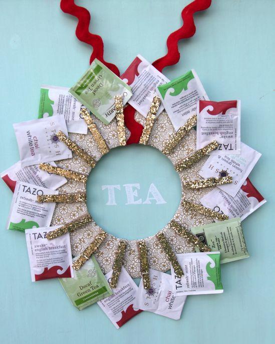 handmade gift idea- DIY tea wreath