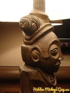 Disney's Polynesian Resort-  Hidden Mickey on Lamp headpiece   www.hiddenmickeyg...