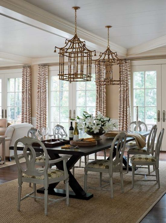 bamboo chandeliers.  boxwood home interiors.