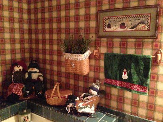 Christmas Bathroom decorations