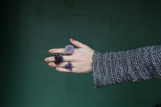 Beautiful chunky amethyst rings. We want one in every shape!
