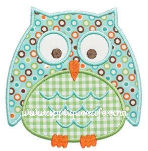 Owl 6 Applique Desig