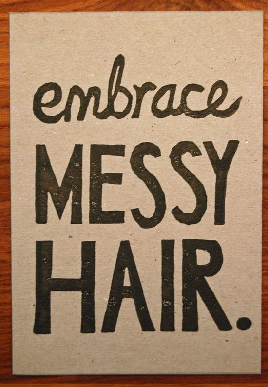 Story of my messy haired life!