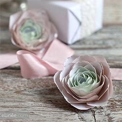 Learn how to make paper ranunculus with our step by step tutorial and free paper ranunculus template.