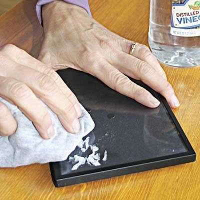 Banish Decals and Stickers with vinegar