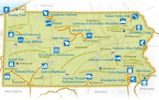 PA Scenic Byways Map -- Looking for a weekend drive?