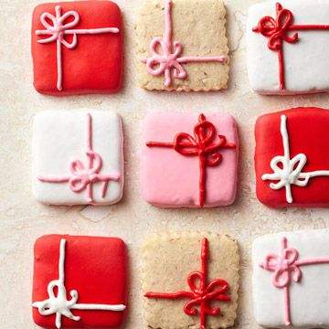 Pretty Package Cookies! More ideas and recipes for a holiday cookie exchange: www.bhg.com/...