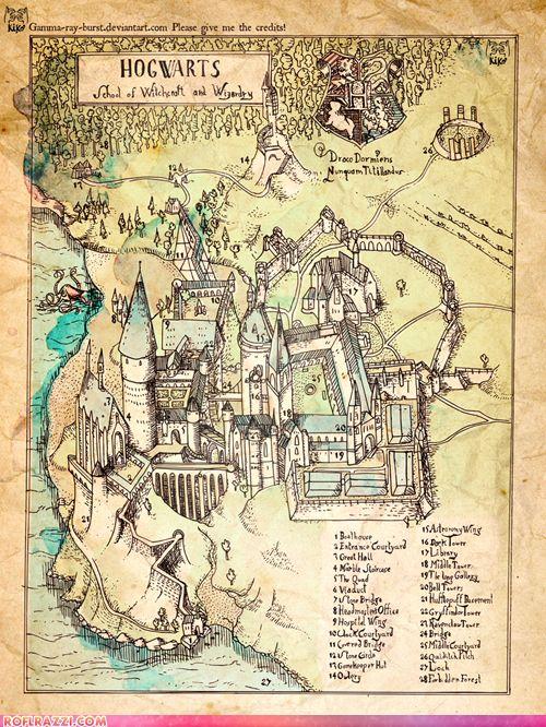 Hogwarts: The Illustrated Map