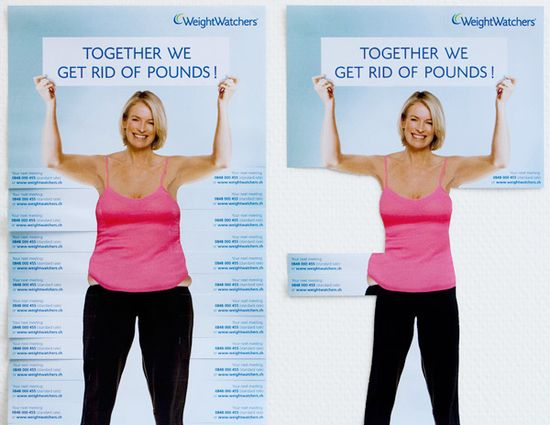 Weight Watchers Ad: 122 Must See Guerilla Marketing Examples Photo