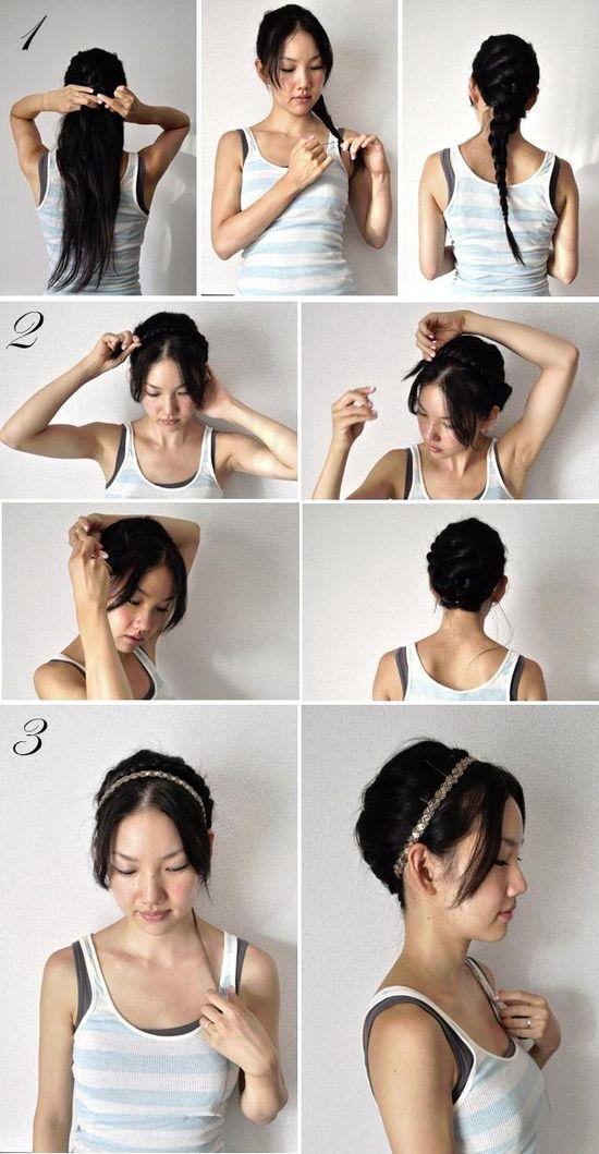 Milkmaid braid Hairstyle with just one braid