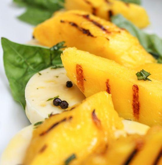 Mango Salad with Basil & Mozzarella
