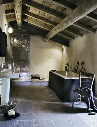 Stunning bathroom design in a home in the South of France