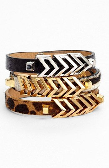Vince Camuto 'Call of the Wild' Chevron #Bracelet (Nordstrom Exclusive) available at #Nordstrom SO CUTE :)