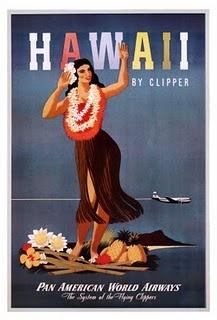 vintage Pan Am poster #Hawaii