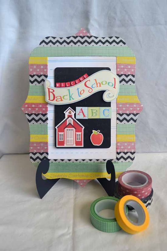 Welcome Back to School Acrylic Frame *Clear Scraps* - Scrapbook.com