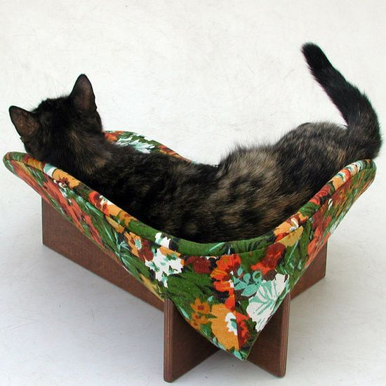 my kitties would love this bed and it's so chic
