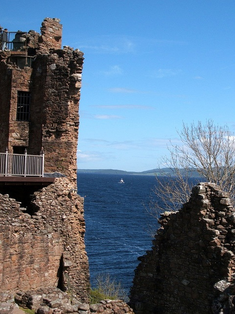 View of Loch Ness from Urquhart Castle, by Jacobite Cruises tour.  #Loch Ness #Scotland