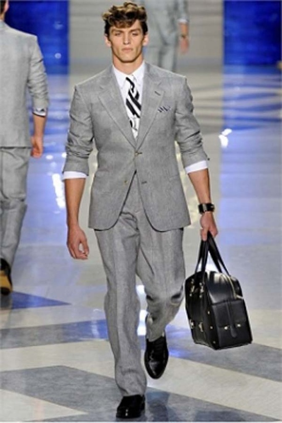 Versace Men's Fashion Show FW 2012-13. Suit