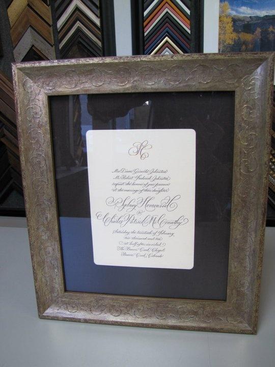 Wedding Invitations & Framing