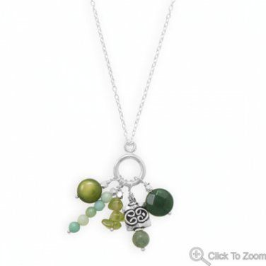 """Hand Made """"Shades of Green"""" Necklace!"""
