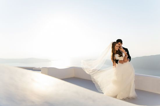 romantic wedding santorini