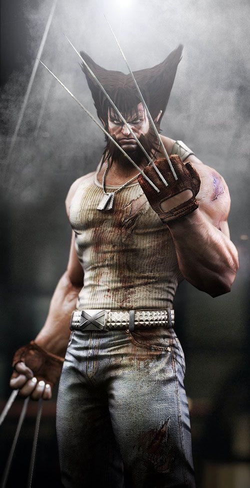 Wolverine 3d character