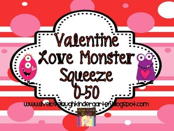 Valentine Math Station Number Squeeze