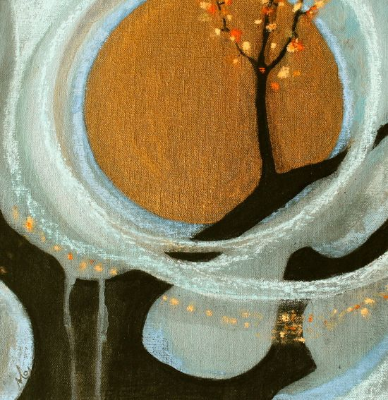 """Saatchi Online Artist: Mo Kelly; Mixed Media, Painting """"Wish"""""""