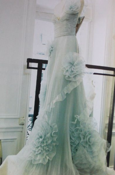 ruffled lace tulle