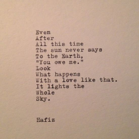 Hafiz Quote Typed on Typewriter by farmnflea on Etsy, $10.00