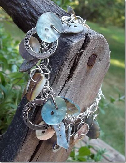 Cute DIY button bracelet.