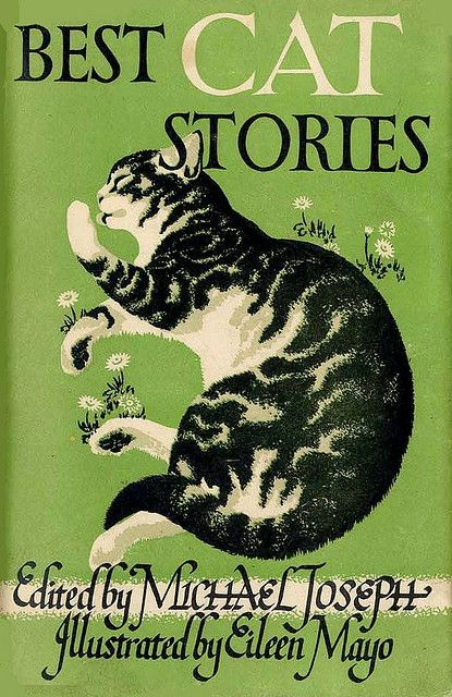 "Book cover ""Best Cats Stories"" - illustrated by Eileen Mayo"