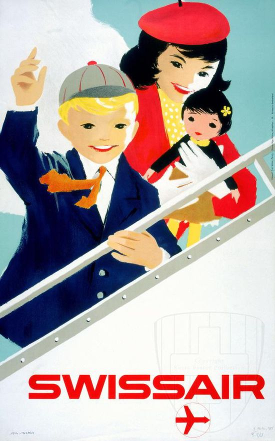 Swiss Air #travel #poster
